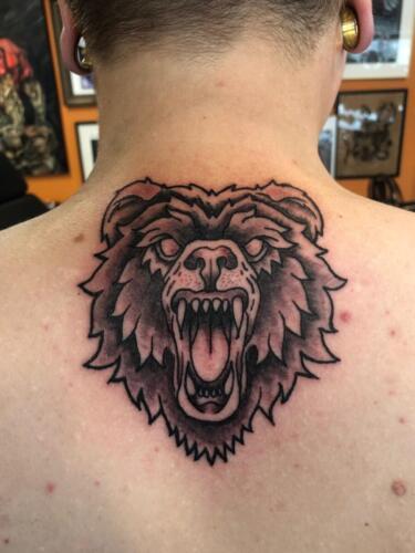 Dylan Llewellyn Tattoos -  traditional bear