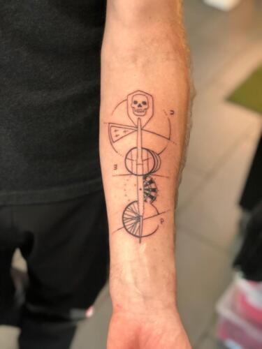 Dylan Llewellyn Tattoos -  geometrical