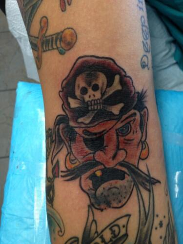 Mike Peace Tattoos - pirate tattoo