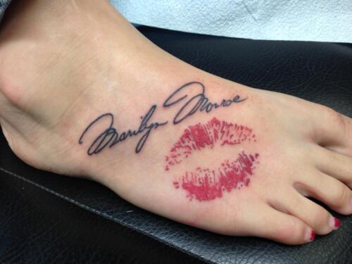 Mike Peace Tattoos - lips tattoo