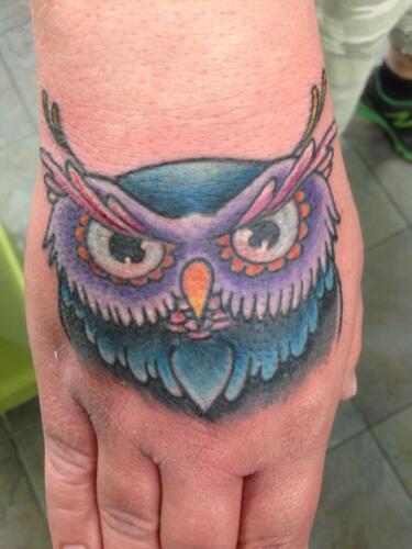 Mike Peace Tattoos - owl tattoo