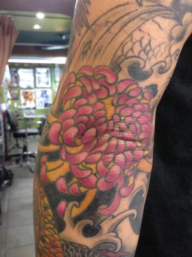 Mike Peace Tattoos - oriental lotus tattoo