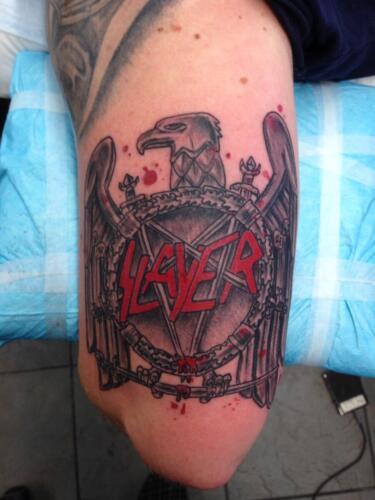 Mike Peace Tattoos - slayer tattoo