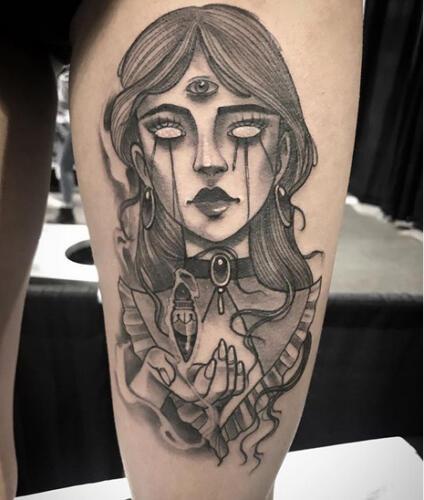 Katina Sceffler Tattoos - 3eyed girk