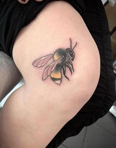 Katina Sceffler Tattoos - bees knees tattoo