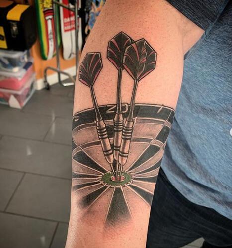 Katina Sceffler Tattoos - darts