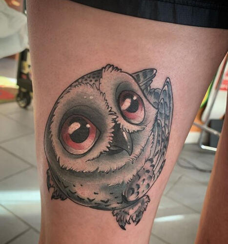 Katina Sceffler Tattoos - owl tattoo