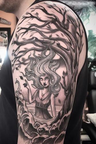 Katina Sceffler Tattoos - water girl