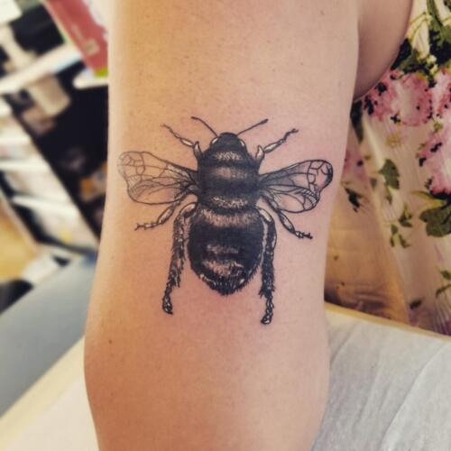 Tattoos by Tymm Cre8tions - bee tattoo