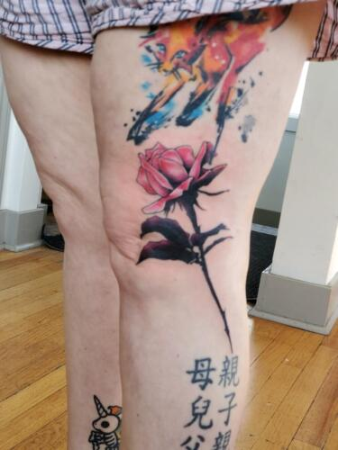 Tattoos by Tymm Cre8tions - custom rose tattoo