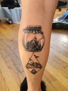 Tattoos by Tymm Cre8tions - jar mountain tattoo