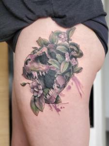 Tattoos by Tymm Cre8tions - t rex tattoo