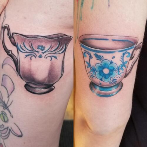 Tattoos by Tymm Cre8tions - tea cup friendship tattoo