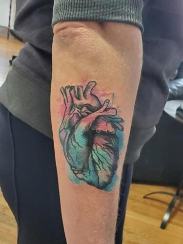 Tattoos by Tymm Cre8tions - watercolor heart tattoo