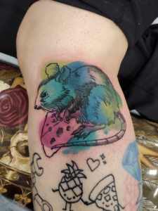 Tattoos by Tymm Cre8tions - watercolor tattoo rat