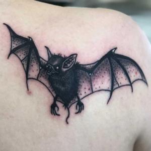 bat tattoo by Dylan Llewellyn