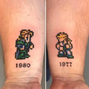 pixel gamer tattoo by Dylan Llewellyn