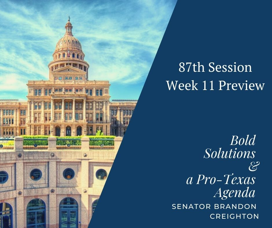 87th Session – Week 11 Preview