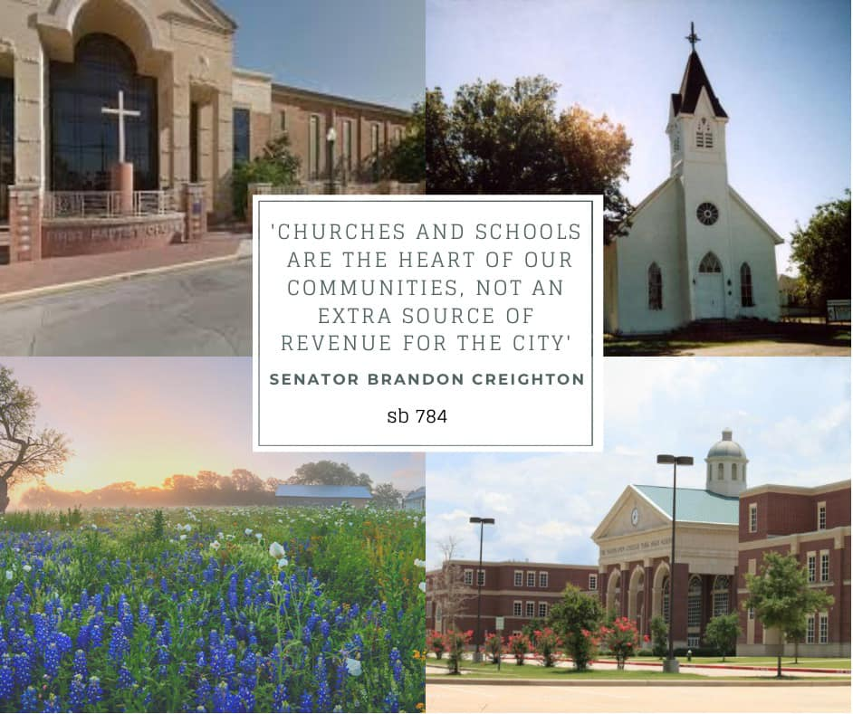 Senate Bill 784 – Ensuring that churches and schools are treated fairly