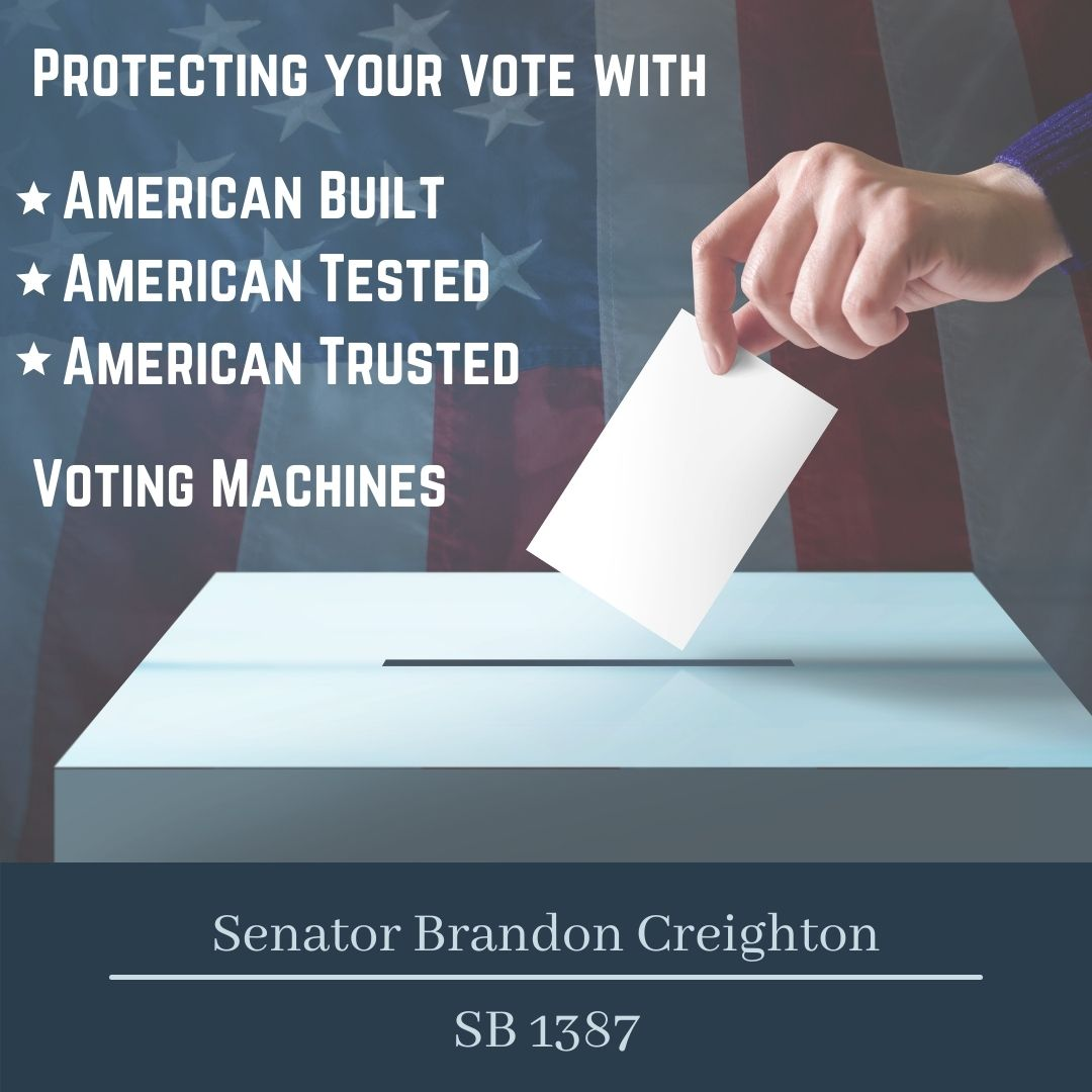 Senate Bill 1387 – American Made Election Equipment