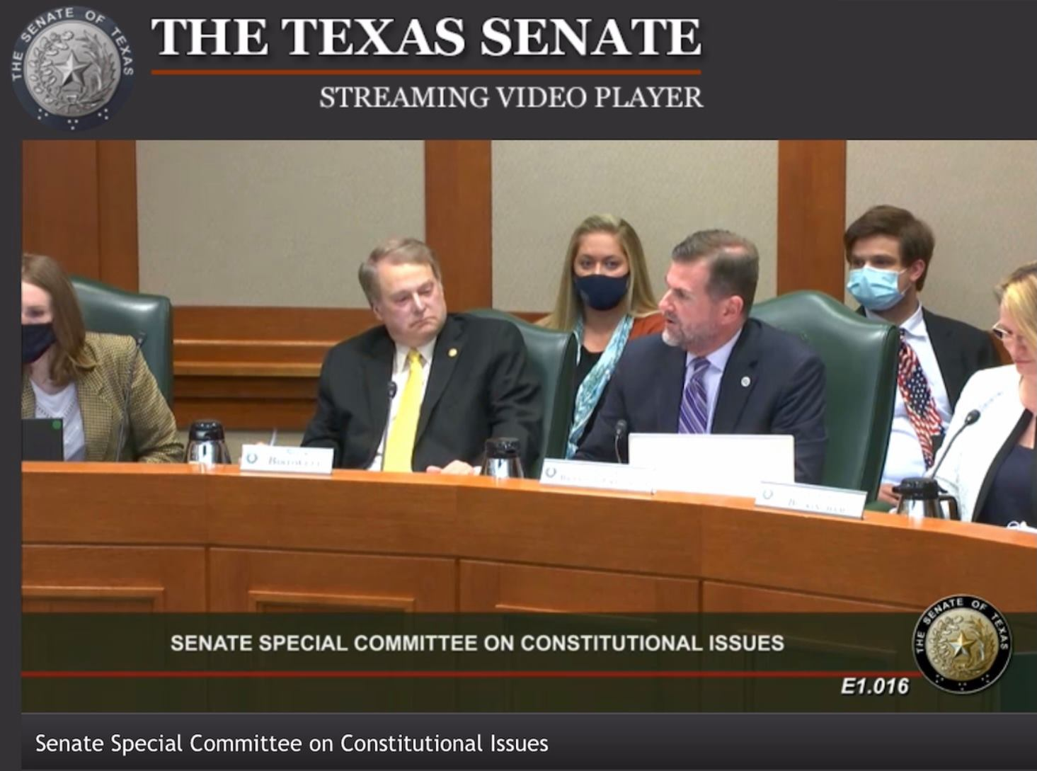 Texas Senate Committee on Constitutional Issues – Hearing on HB 1927