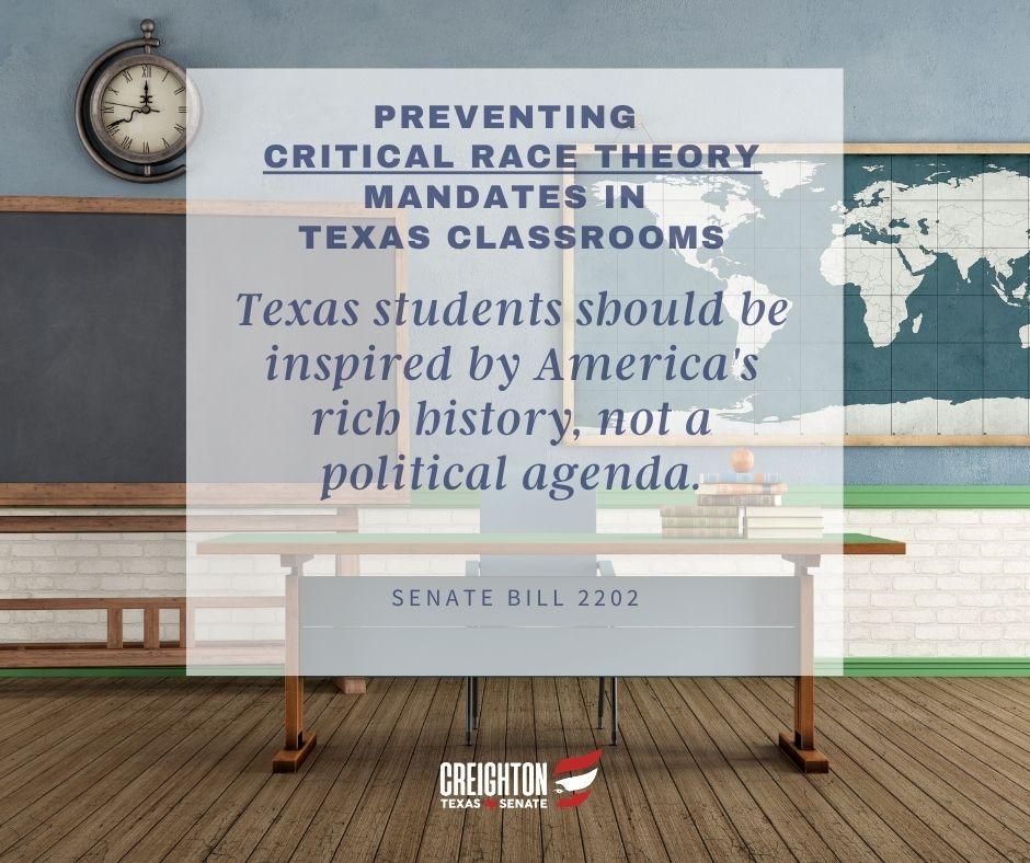Senate Bill 2202 – Preventing Critical Race Theory Mandates in Texas Classrooms