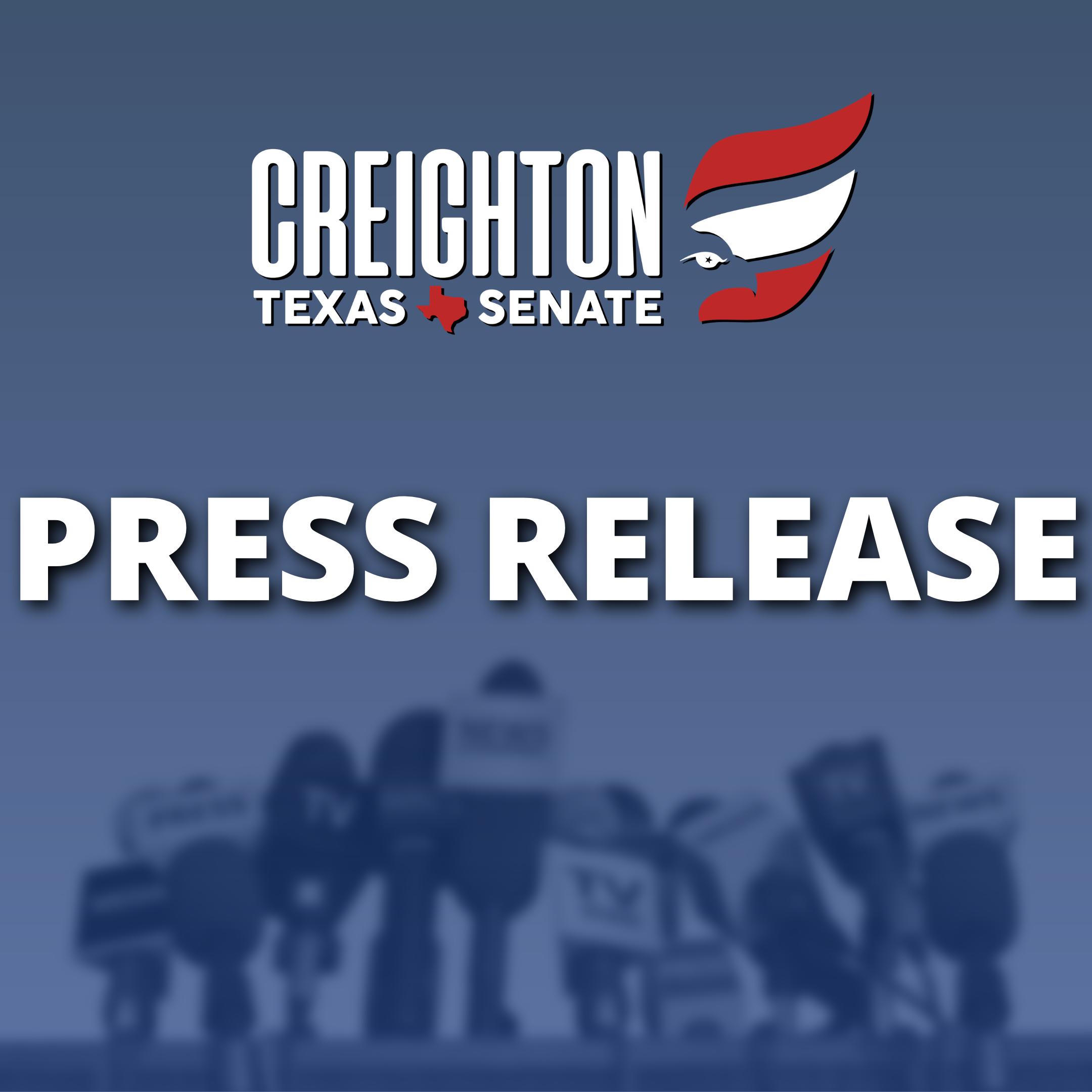 Creighton Seeking Reelection to Texas Senate