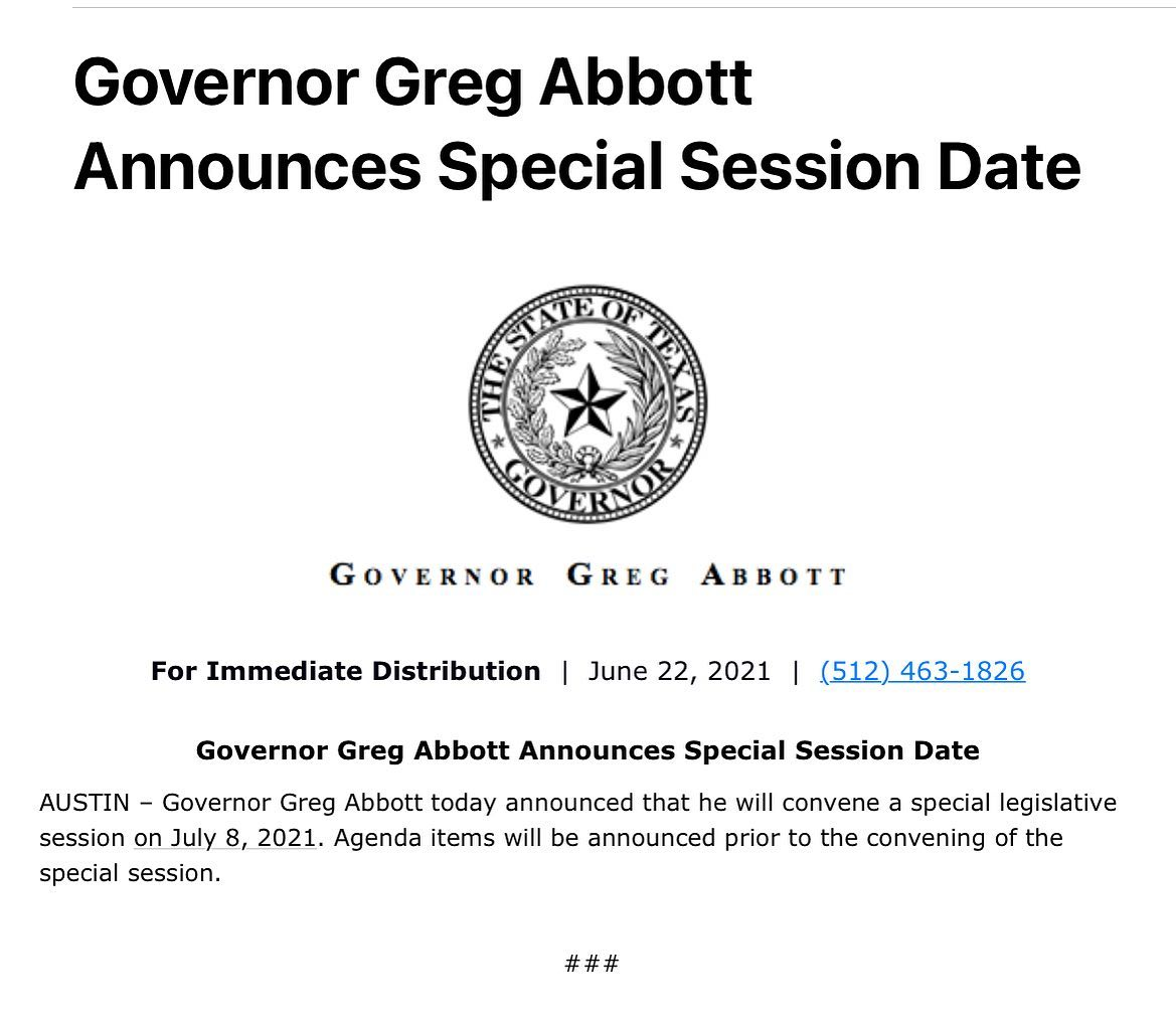 Special Session – Starts July 8