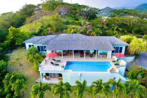 Aerial View Villa Caribella