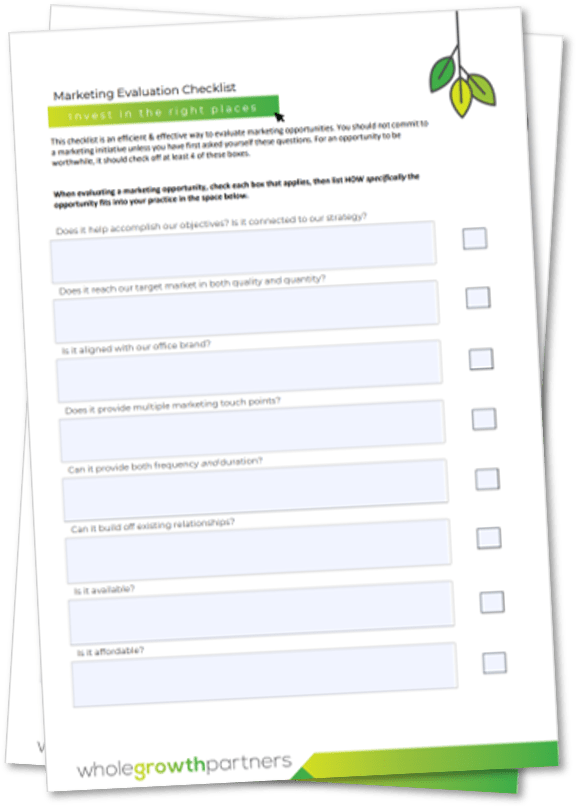 Marketing Evaluation Checklist Screenshot