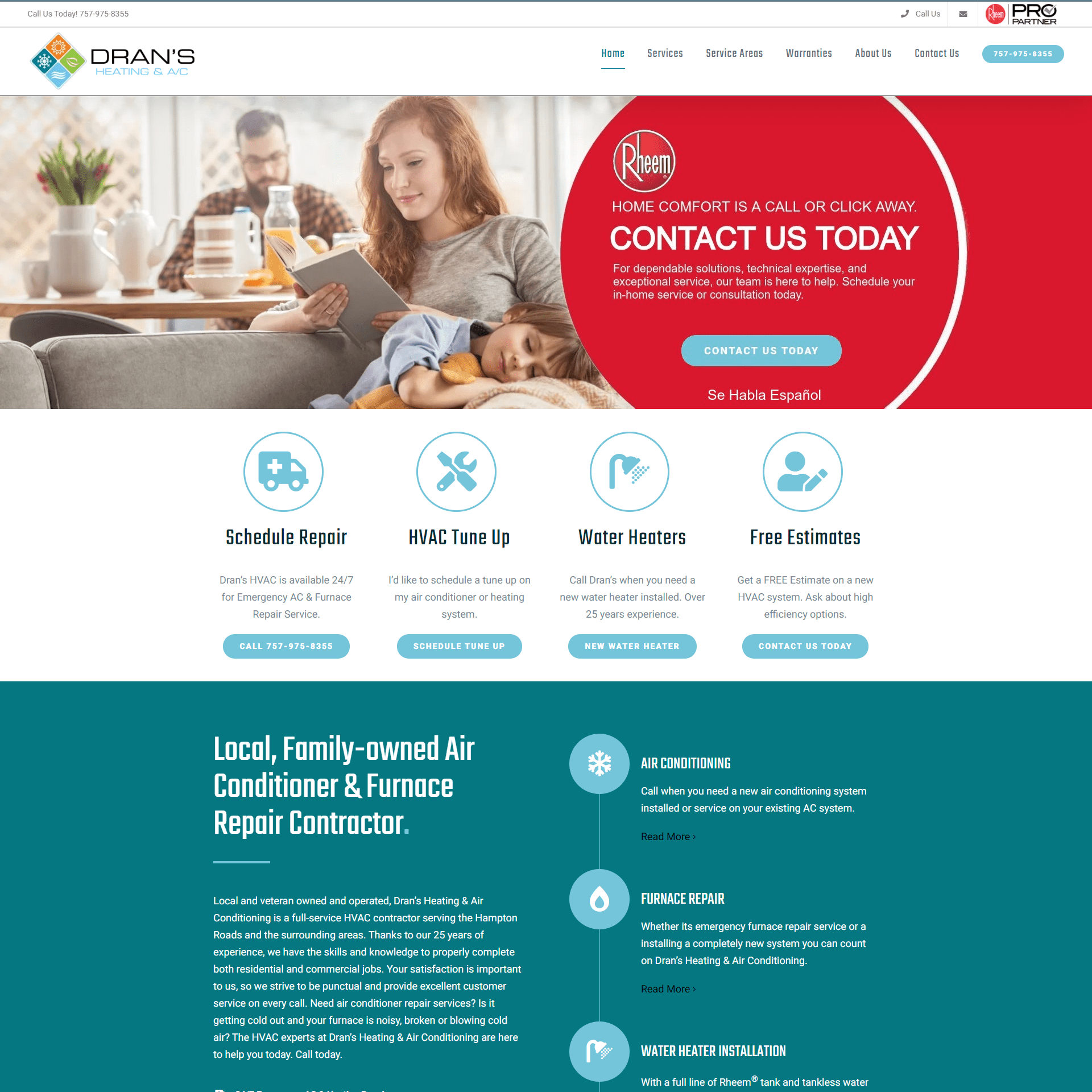 Drans HVAC Website SEO