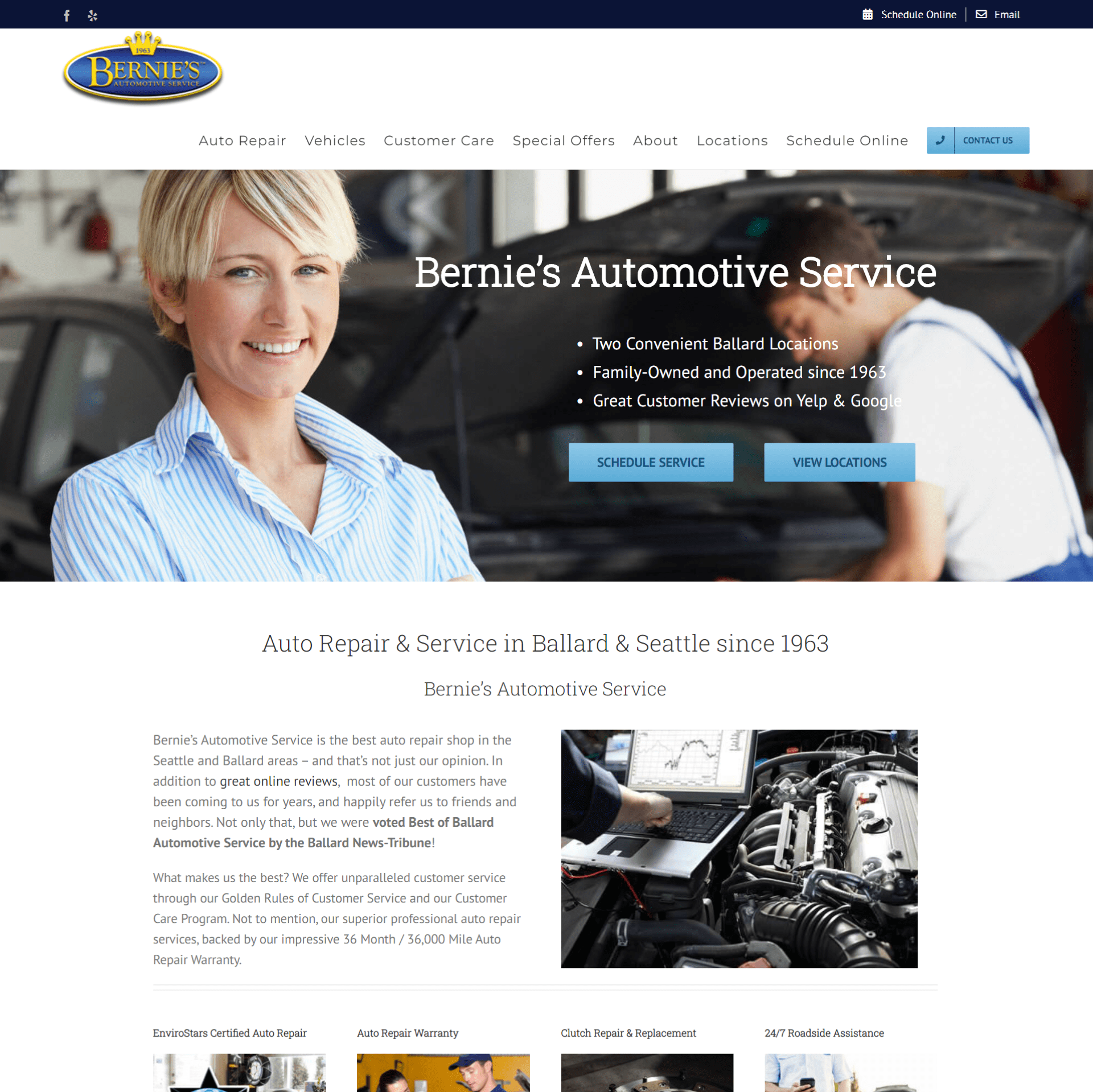 Bernie's Automotive Website
