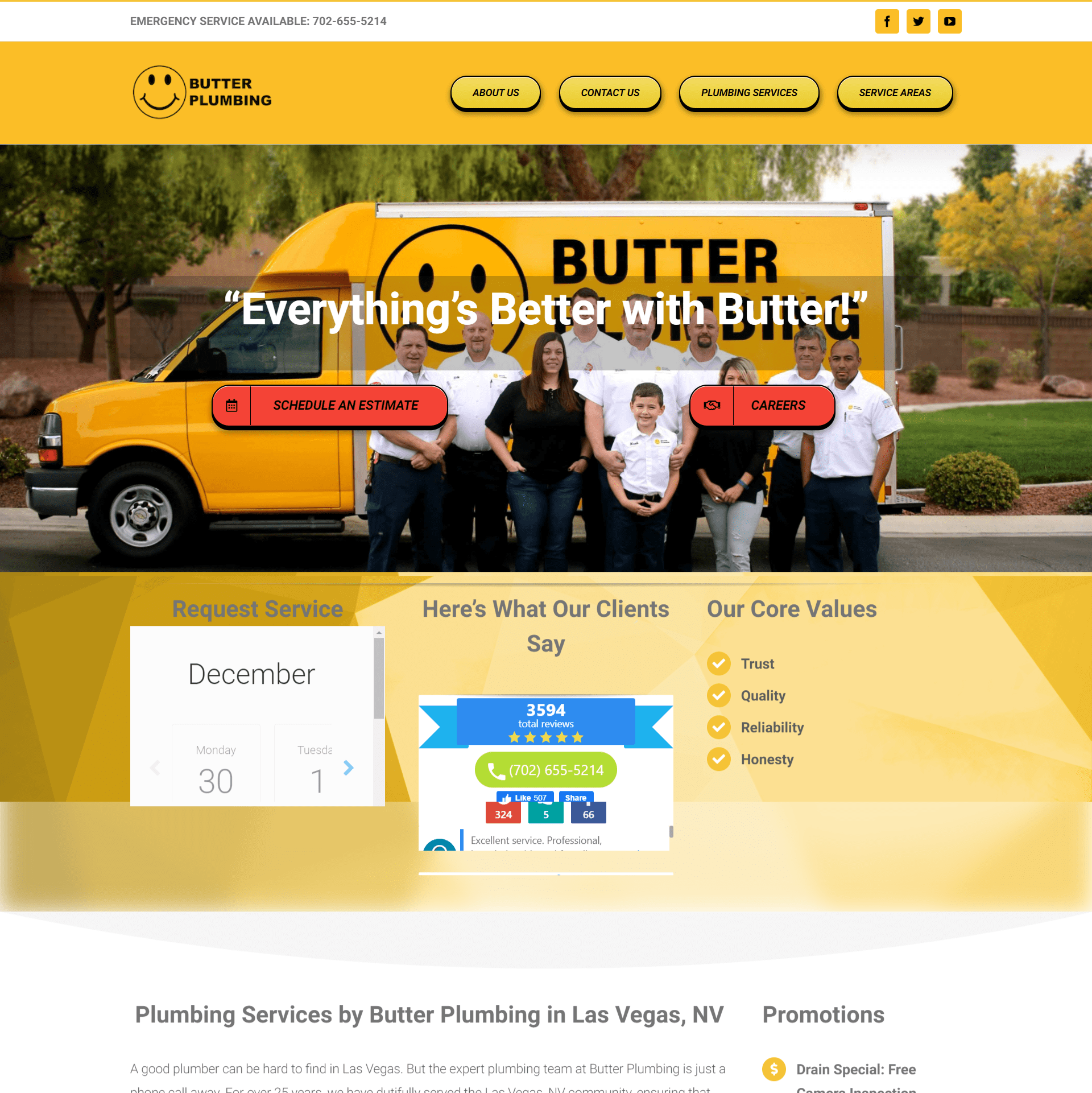 Butter Plumbing Website