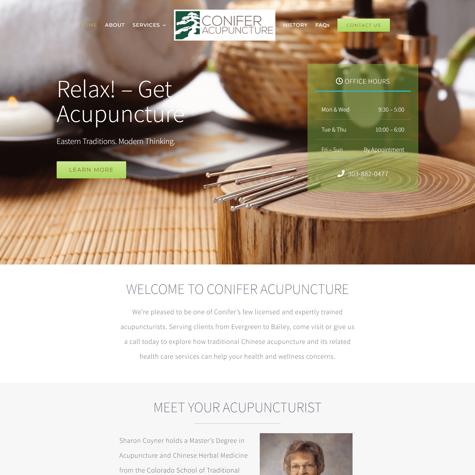 Conifer Acupuncture Website
