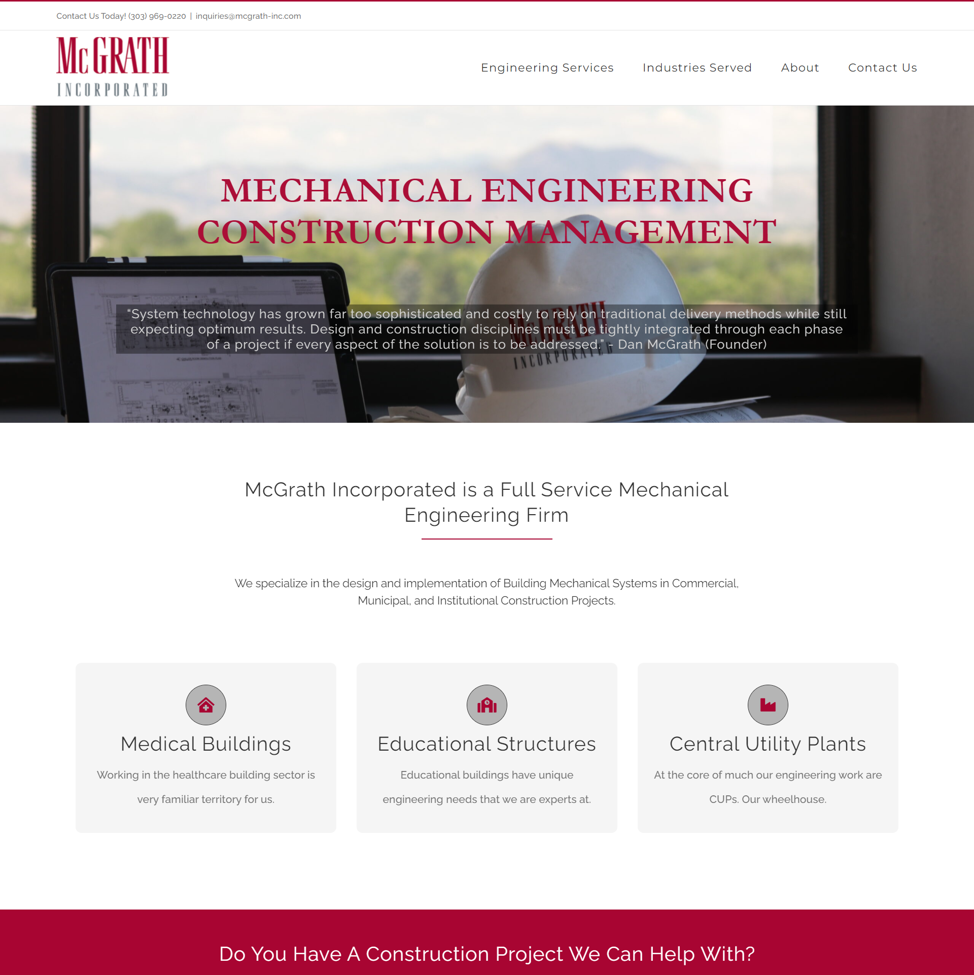 McGrath Incorporated Website