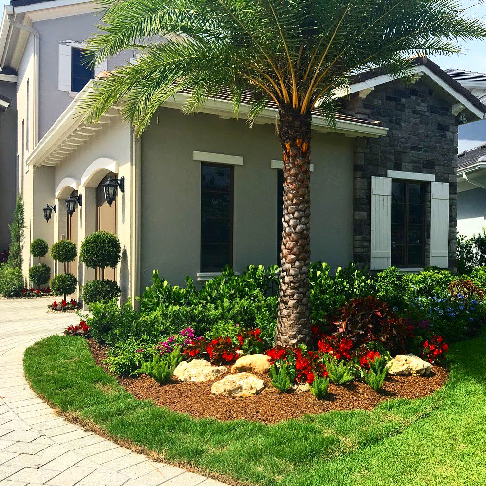 house with landscape garden