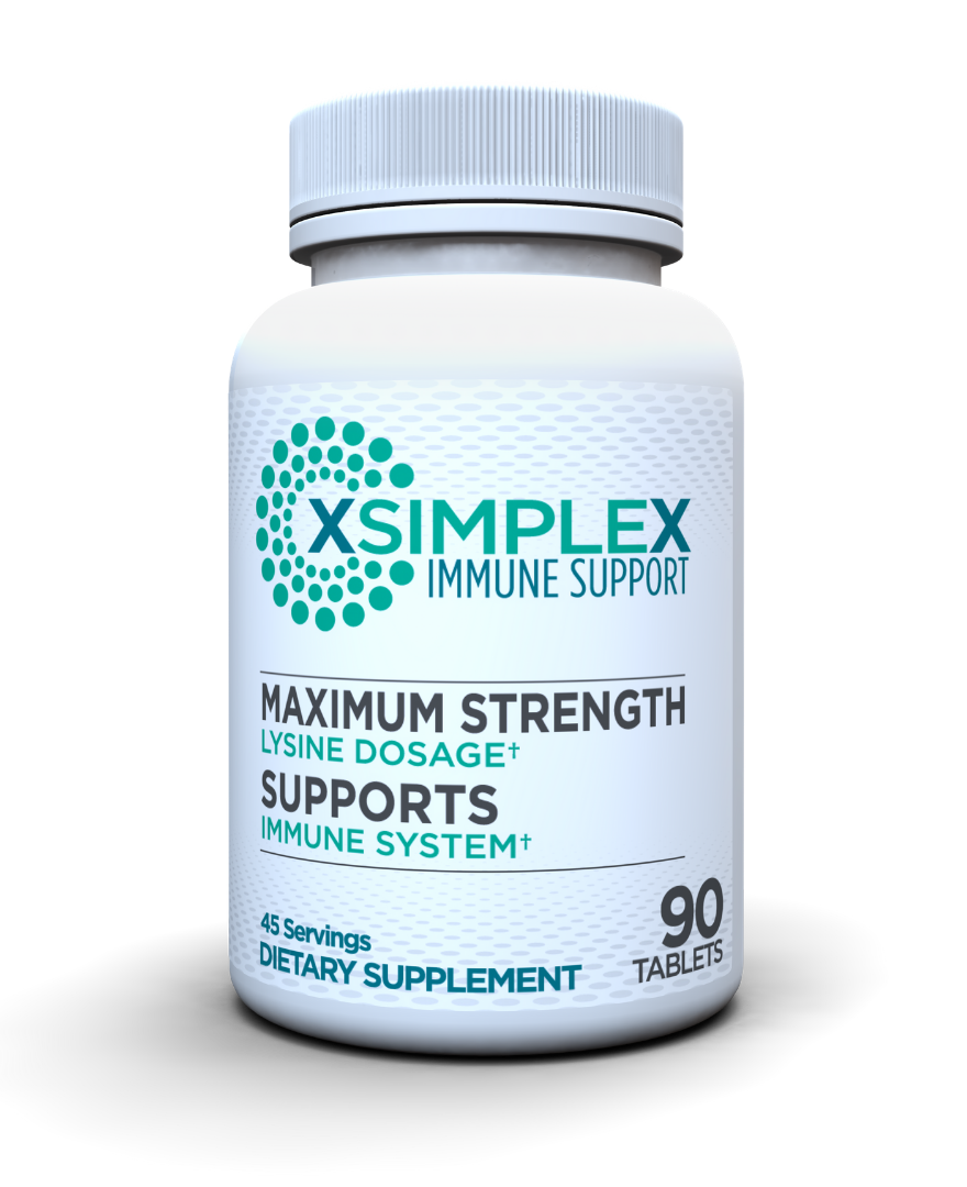 The front of a bottle of XSimplex.