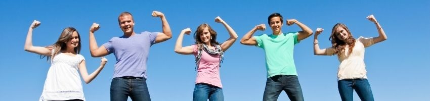 A picture of healthy group of friends strengthen their immune system