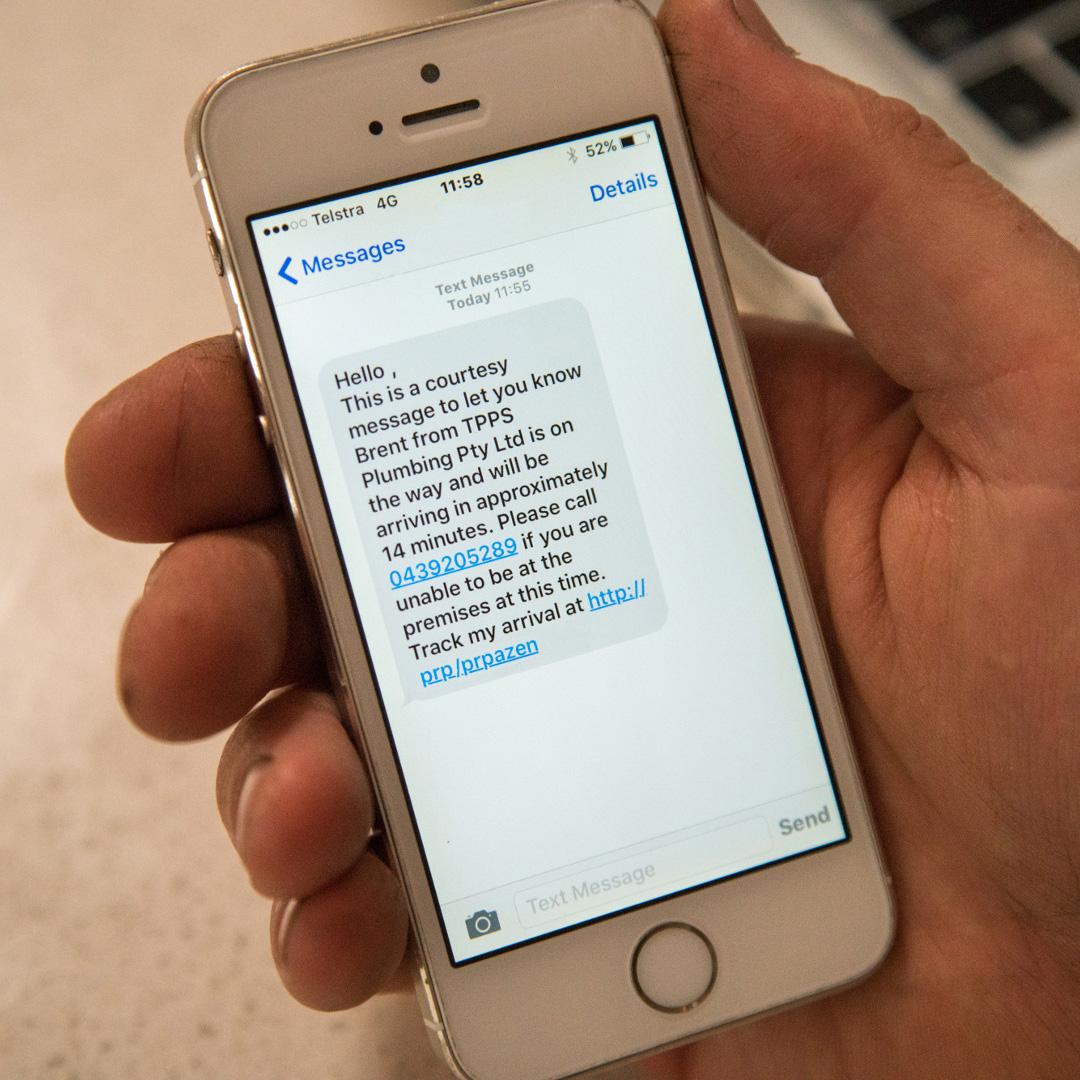 throughgood sms notification
