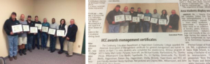 Hub Labels Employees Awarded the HCC Management Certification