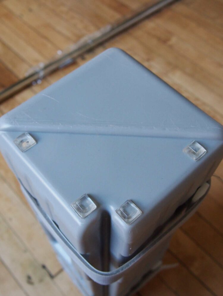 1   Place 4 vinyl bumpers on the lower portion of the bottom of the Eurmax canopy feet weight.
