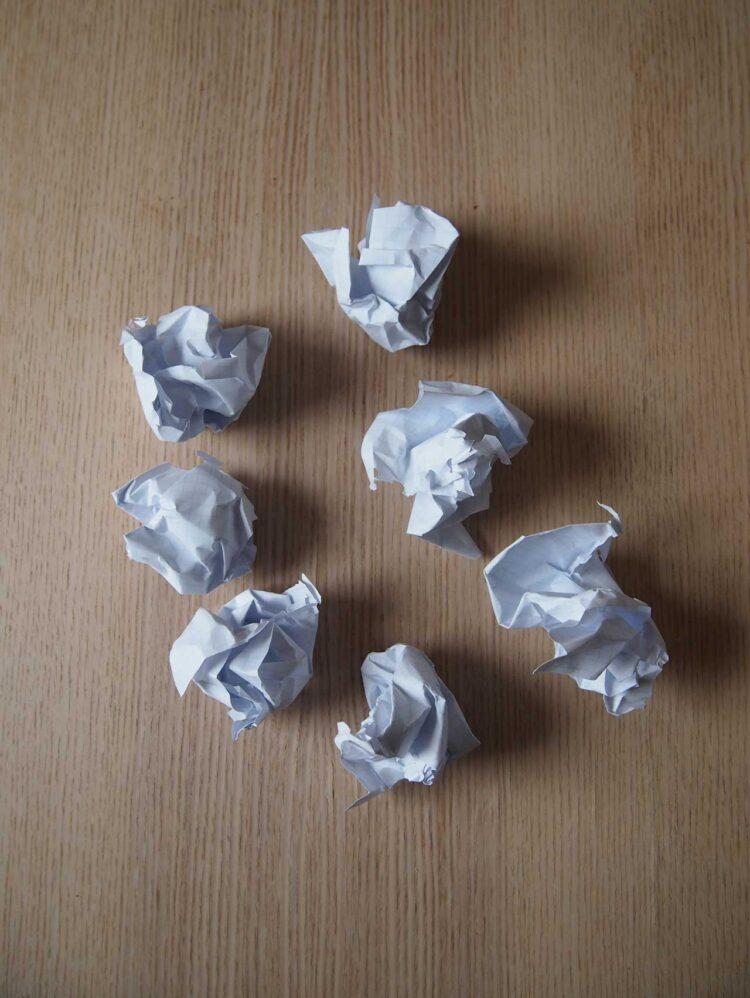 1   Crumple a few pieces of paper.