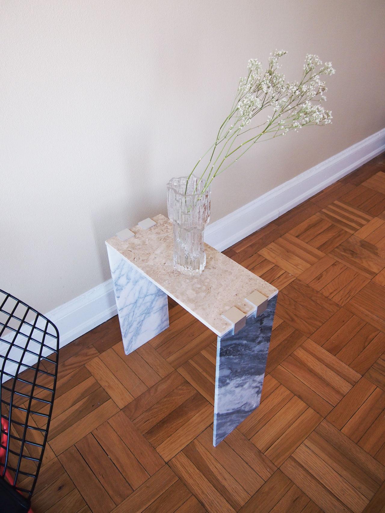 DIY marble tile side table designed by Aandersson
