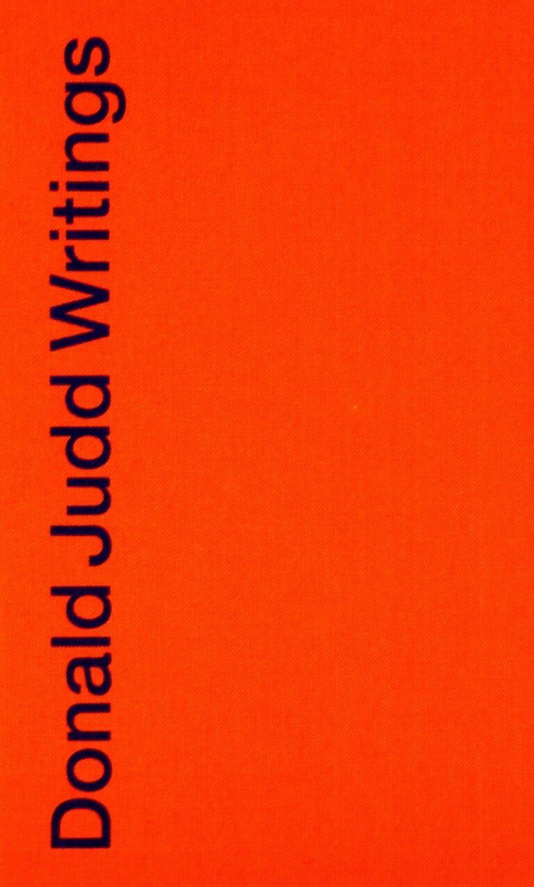 Donald Judd Writings book
