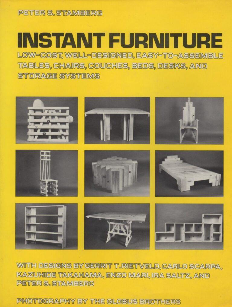 Peter Stamberg instant furniture DIY instruction design book