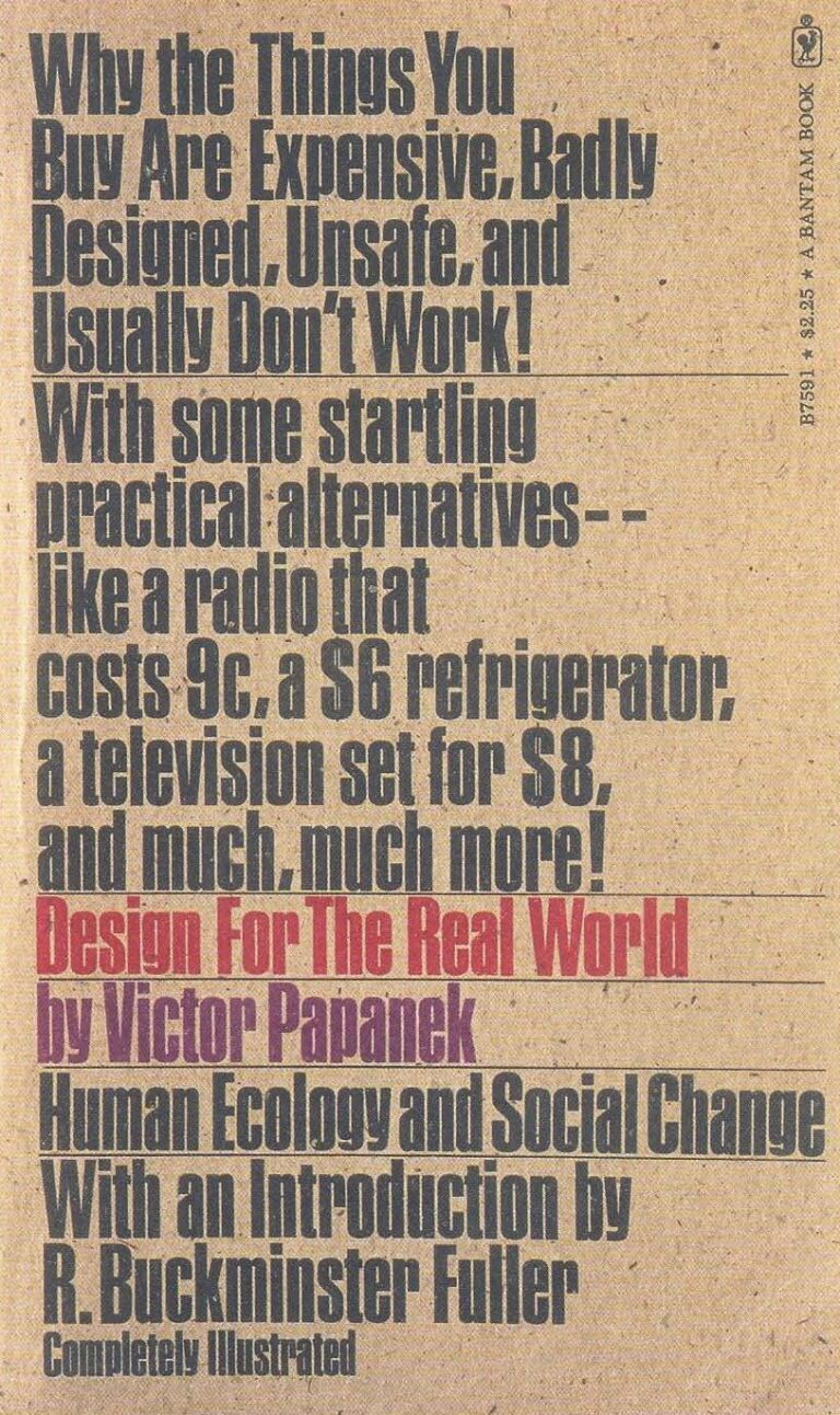 Victor papanek design for the real world book