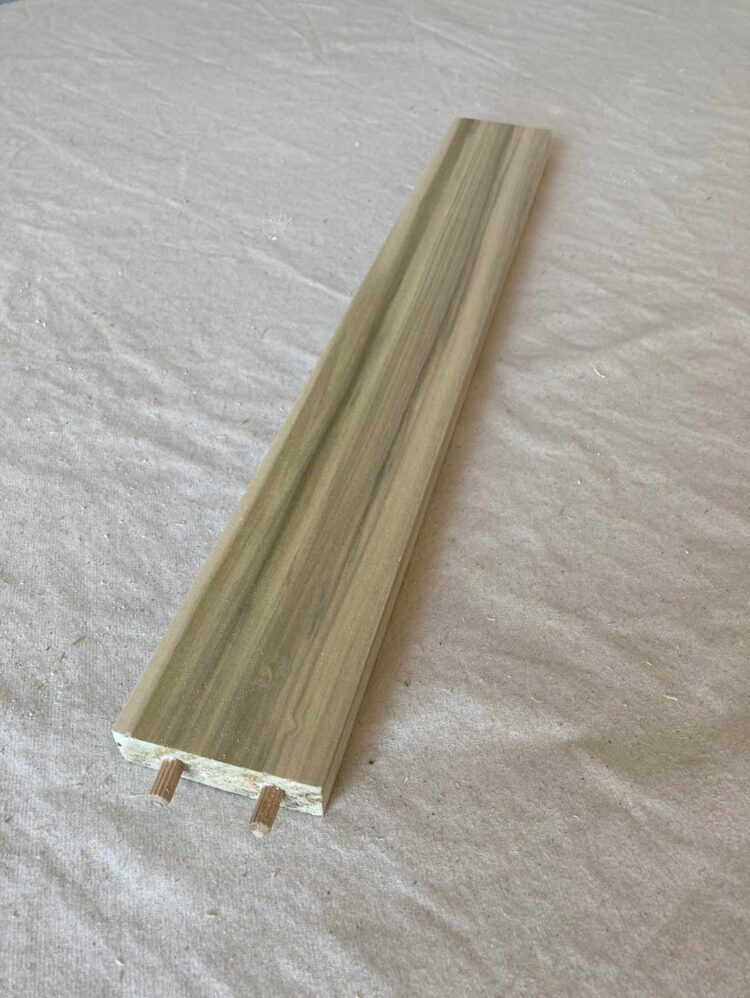 16   Glue and insert 2 dowel pins into both ends of a 17.5in (44cm) long piece.