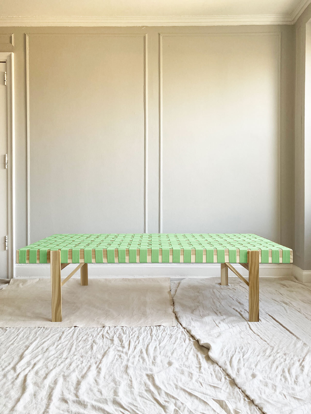 Simple Joinery Cotton Strap Daybed by Ian Anderson