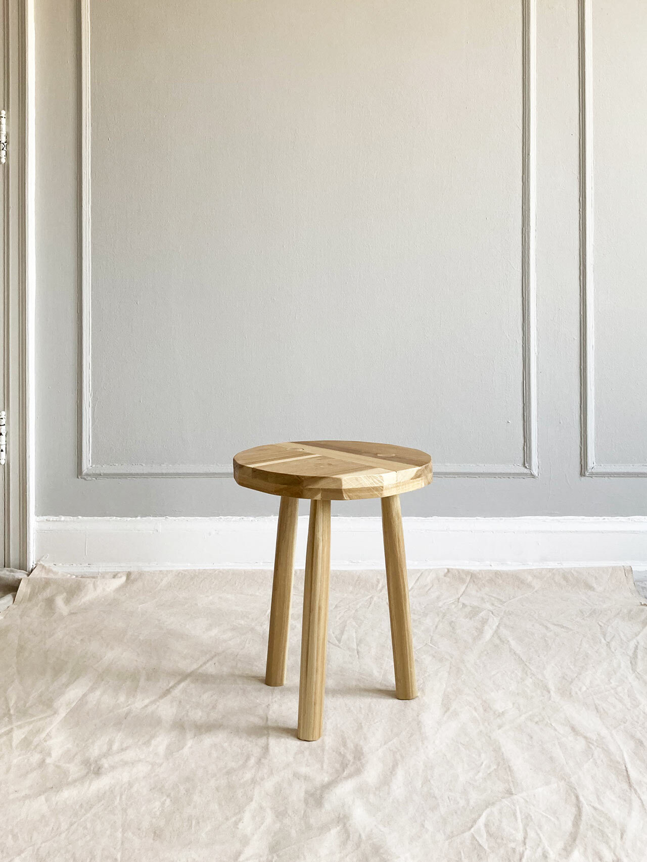 Simple Joinery Poplar Stool by Ian Anderson