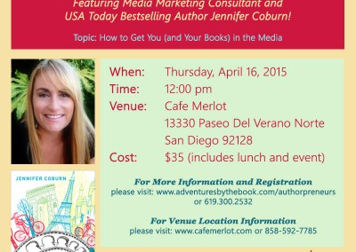 Promo for Authors Lunch